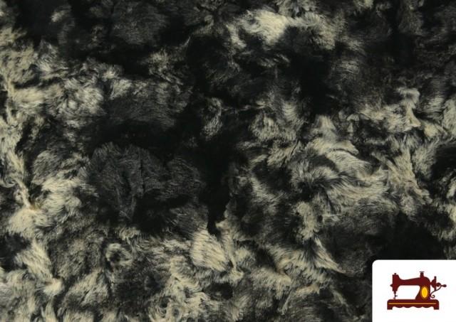 Venta de Tela de Pelo Suave para Cuellos y Vestuario color Gris