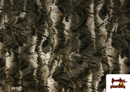 Tela de Pelo Suave para Cuellos y Vestuario color Marrón