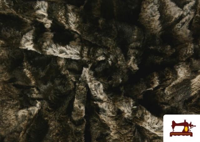Venta de Tela de Pelo Suave para Cuellos y Vestuario color Marrón