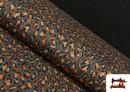 Punto de Viscosa Estampado Leopardo Salvaje color Marrón