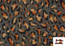Comprar Punto de Viscosa Estampado Leopardo Salvaje color Marrón