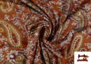 Comprar Punto de Viscosa Estampado Cachemir Grande color Teja