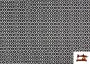 Punto de Viscosa Estampado Mini Geométrico color Negro