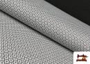 Venta online de Punto de Viscosa Estampado Mini Geométrico color Gris