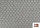 Punto de Viscosa Estampado Mini Geométrico color Gris