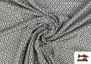 Comprar Punto de Viscosa Estampado Mini Geométrico color Gris