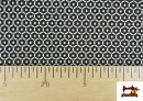 Comprar online Punto de Viscosa Estampado Mini Geométrico color Negro