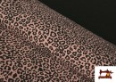 Tela De Punto Estampado Leopardo Rosa