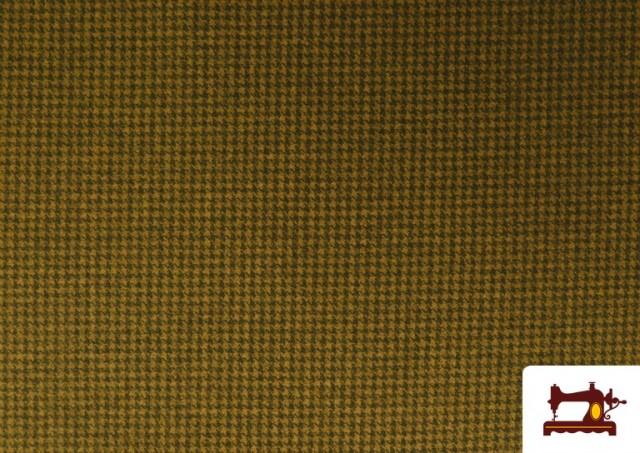 Comprar Tela de Punto Roma de Pata de Gallo color Mostaza