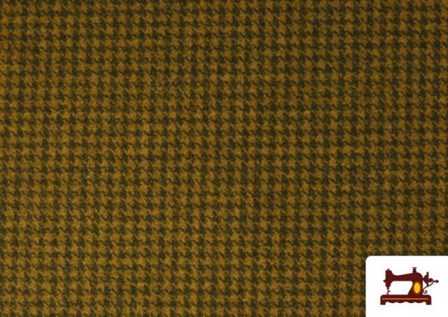 Venta de Tela de Punto Roma de Pata de Gallo color Mostaza