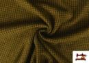 Venta online de Tela de Punto Roma de Pata de Gallo color Mostaza