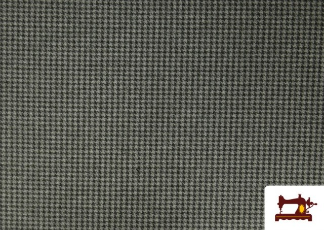 Venta online de Tela de Punto Roma de Pata de Gallo color Gris