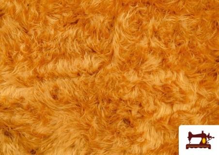 Comprar Tela de Pelo Largo Cobrizo Mostaza - Disfraces de León