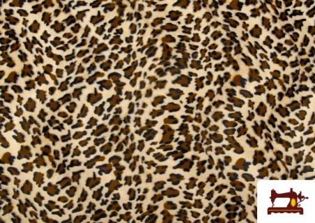 Tela Estampado de Leopardo - Pelo Corto