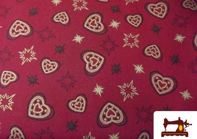 Tela Roja Patchwork de Navidad