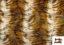Venta de Tela de Pelo corto con Dibujo de Tigre de Bengala