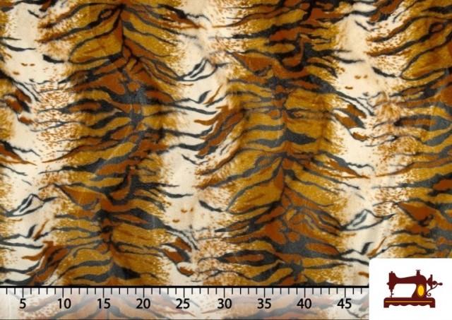 Comprar online Tela de Pelo corto con Dibujo de Tigre de Bengala