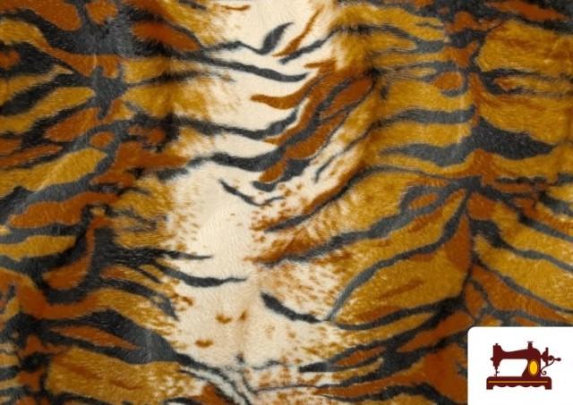 Comprar Tela de Pelo corto con Dibujo de Tigre de Bengala