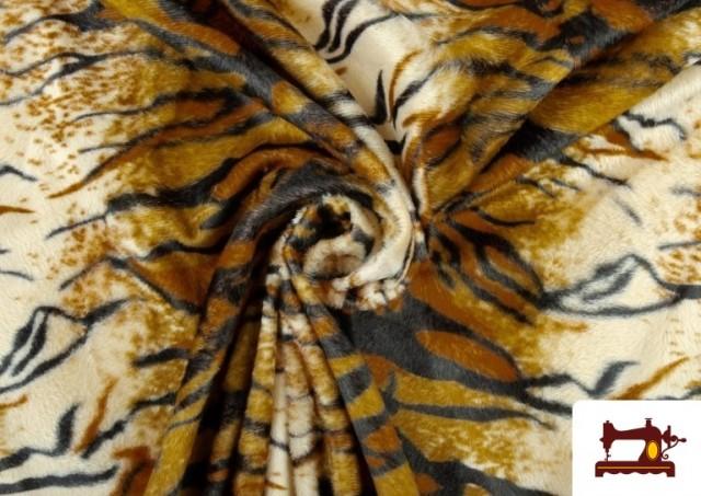 Tela de Pelo corto con Dibujo de Tigre de Bengala