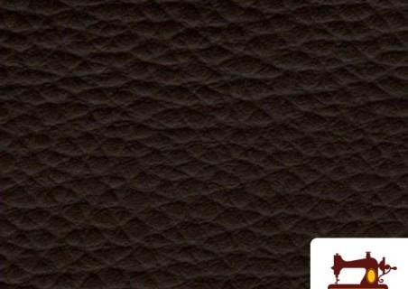Comprar tela polipiel marrón