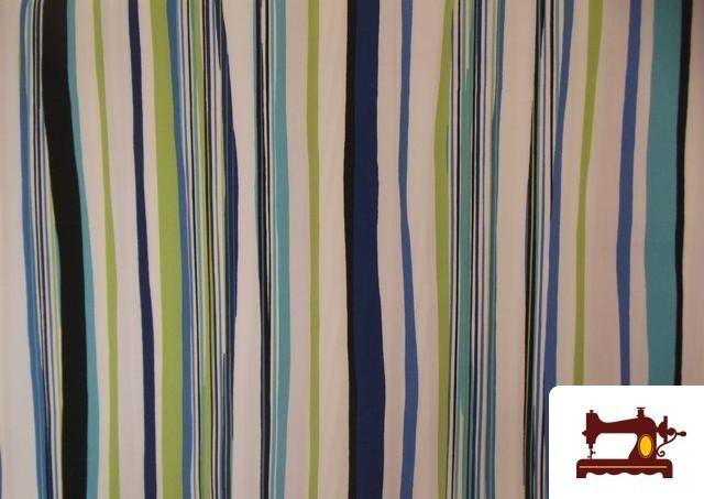 Outlet de telas loneta con rayas de color - Loneta para tapizar ...