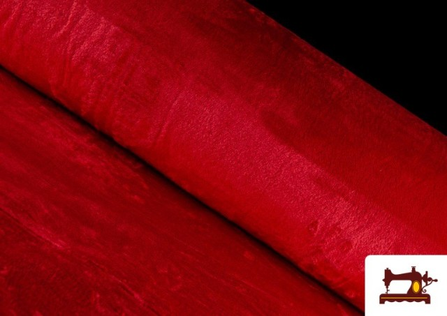 Comprar online Tela de Pelo Corto de Colores color Rojo