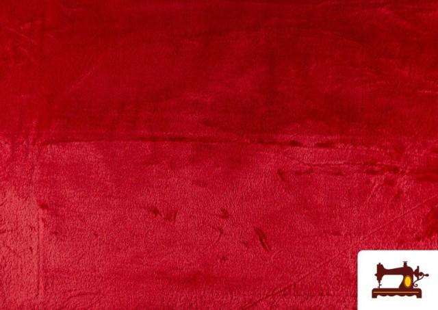 Venta online de Tela de Pelo Corto de Colores color Rojo
