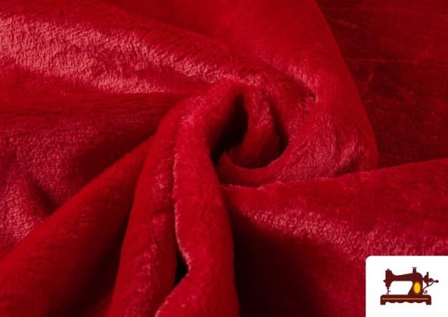 Tela de Pelo Corto de Colores color Rojo