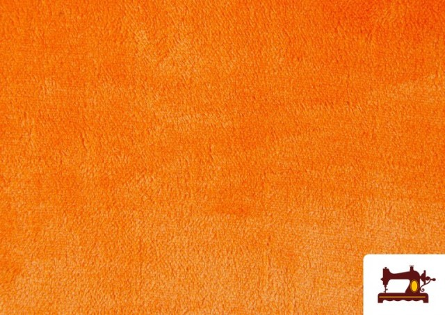 Comprar Tela de Pelo Corto de Colores color Naranja