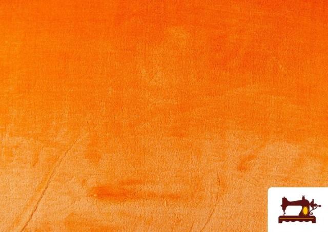 Venta de Tela de Pelo Corto de Colores color Naranja