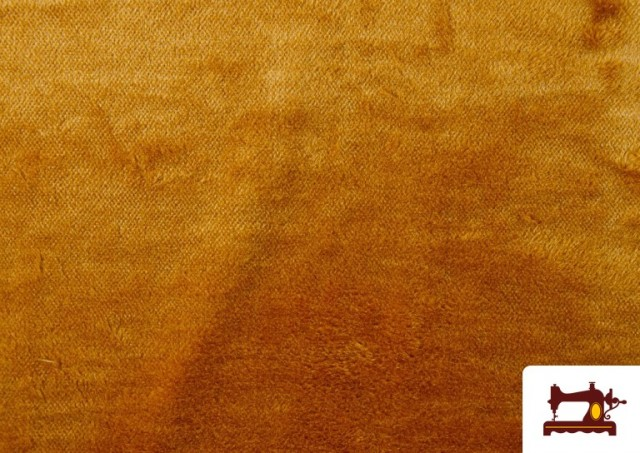 Venta de Tela de Pelo Corto de Colores color Dorado