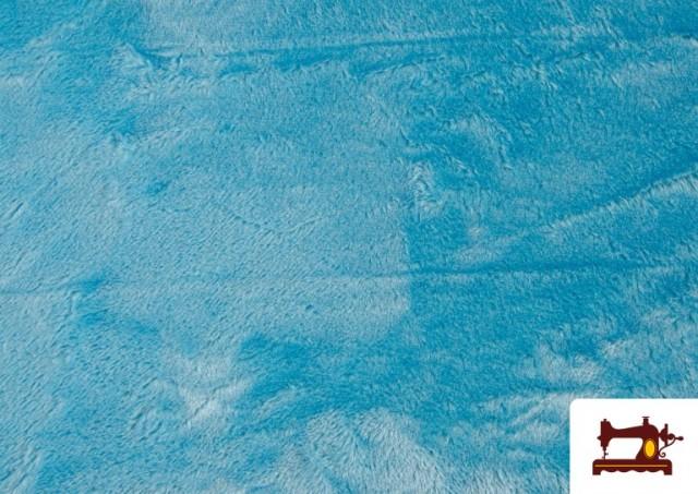 Comprar online Tela de Pelo Corto de Colores color Azul turquesa