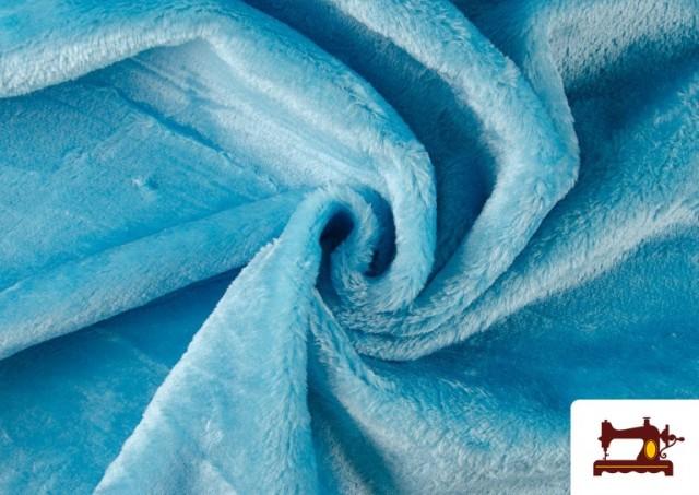 Tela de Pelo Corto de Colores color Azul turquesa