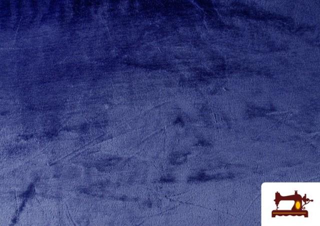 Tela de Pelo Corto de Colores color Azulón