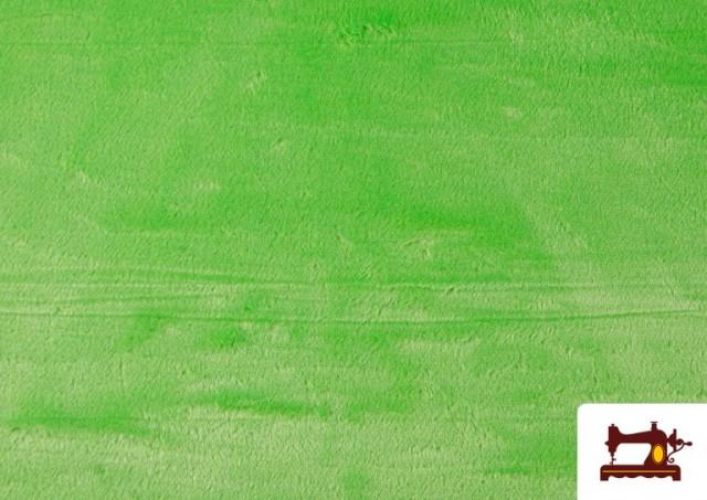Venta online de Tela de Pelo Corto de Colores color Pistacho