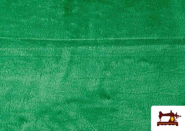 Tela de Pelo Corto de Colores color Verde