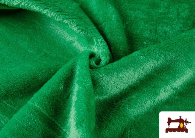 Venta de Tela de Pelo Corto de Colores color Verde