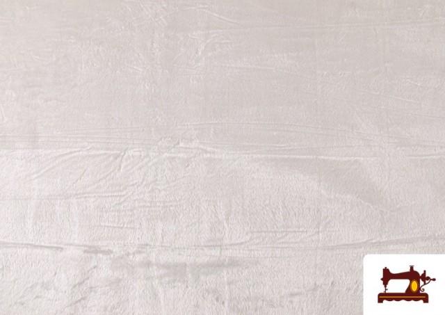 Venta de Tela de Pelo Corto de Colores color Blanco