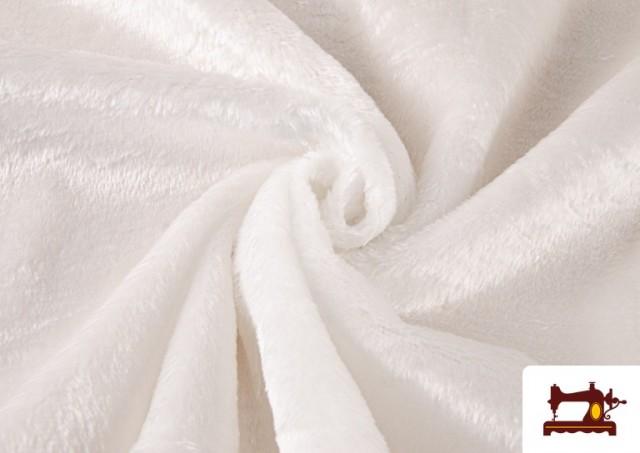 Comprar online Tela de Pelo Corto de Colores color Blanco