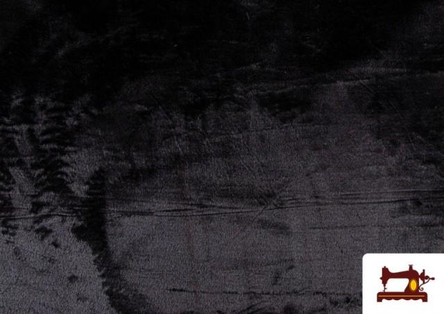 Venta de Tela de Pelo Corto de Colores color Negro