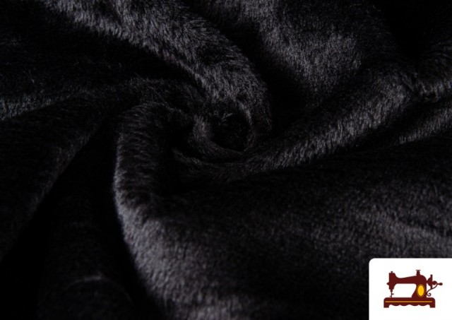 Comprar online Tela de Pelo Corto de Colores color Negro