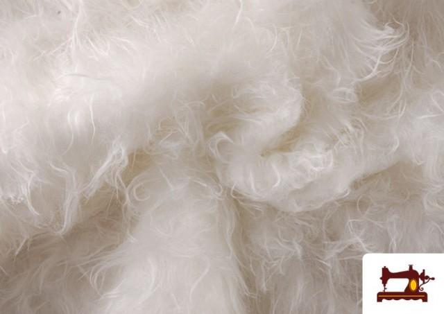 Venta de Tela de Pelo Blanco Largo para Disfraces de Animales