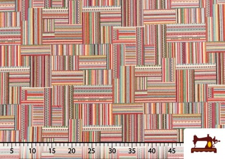 Tela de  Tapicería Gobelino Multicolor