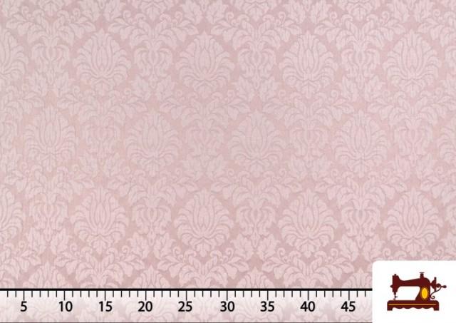Venta de Tela de Jacquard Cloqué de Seda Colores Suaves color Rosa pálido