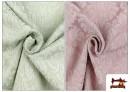 Venta online de Tela de Jacquard Cloqué de Seda Colores Suaves
