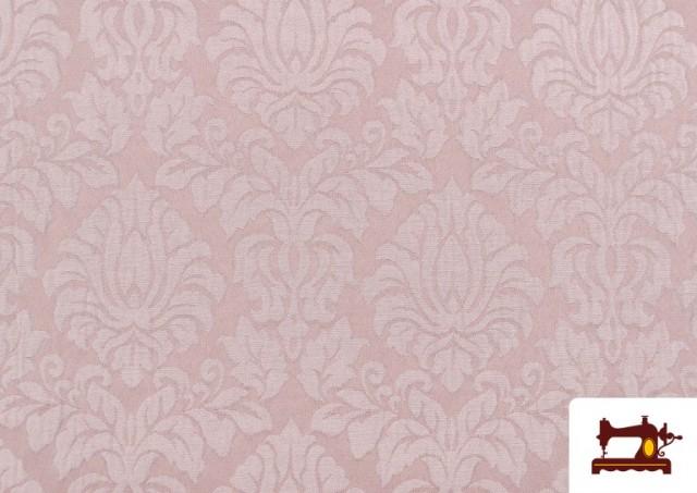 Comprar Tela de Jacquard Cloqué de Seda Colores Suaves color Rosa pálido