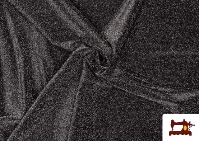 Venta de Tela de Punto de Lycra con Lame color Gris oscuro
