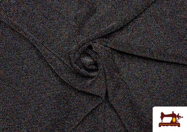 Comprar Tela de Punto de Lycra con Lame color Negro