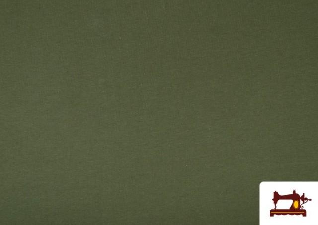 Comprar Tela de Punto de Camiseta de Colores Nueva Temporada. color Verde botella