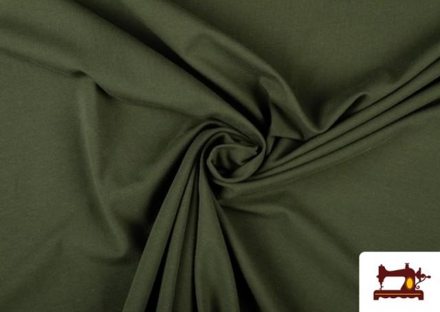 Venta de Tela de Punto de Camiseta de Colores Nueva Temporada. color Verde botella